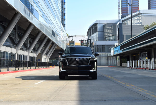 Cadillac Escalade Downtown Los Angeles Streets Staples Center driving