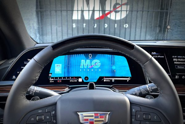 2021 Cadillac Escalade with Super Cruise hands free driving technology parked at MG Studio automotive events venue