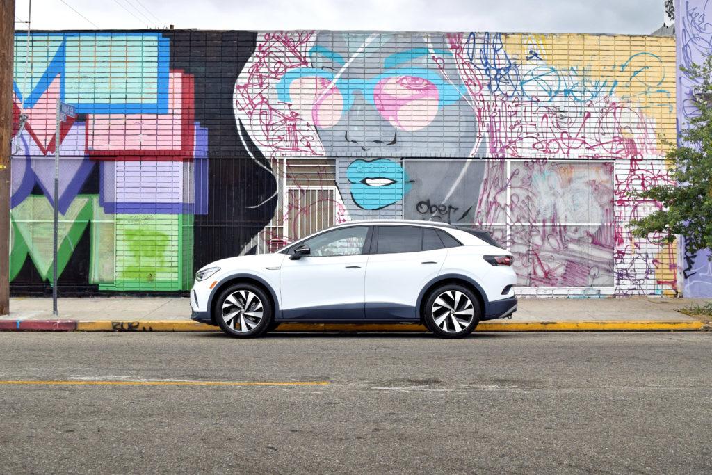 Volkswagen VW ID.4 art wall in downtown Los Angeles